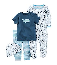 Carter's® Baby Boys' 4-Piece Whale Gift Set