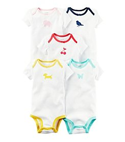 Carter's® Baby Girls' 5-Pack Color Trim Bodysuits