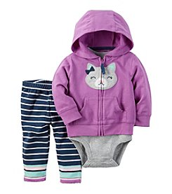 Carter's® Baby Girls' 3-Piece Kitty Hoodie Set