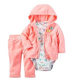 Carter's® Baby Girls' 3-Piece Butterfly Hoodie Set
