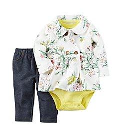 Carter's® Baby Girls' 3-Piece Floral Jacket Set