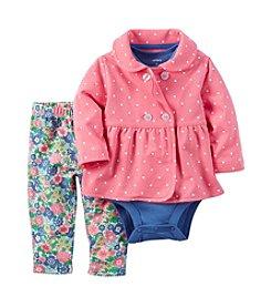 Carter's Baby Girls' 3-Piece Polka Dot Jacket Set