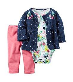 Carter's® Baby Girls' 3-Piece Floral Cardigan Set