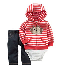 Carter's® Baby Boys' 3-Piece Monkey Hoodie Set