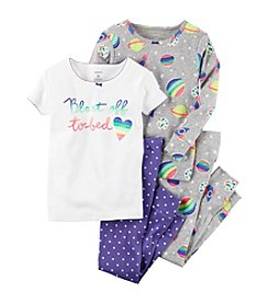Carter's® Girls' 12M-12 4-Piece Blast Off To Bed Pajama Set