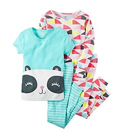 Carter's® Girls' 4-Piece Happy Panda Pajama Set
