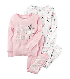 Carter's® Girls' 12M-12 4-Piece Tutu Cute To Sleep Pajama Set