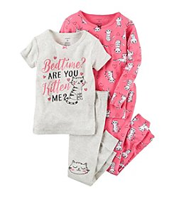 Carter's® Girls' 4-Piece Are You Kitten Me? Pajama Set