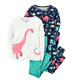 Carter's® Girls' 4-Piece Dinosaur Pajama Set