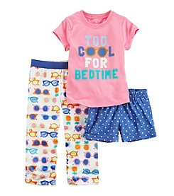 Carter's® Girls' 12M-12 3-Piece Too Cool Pajama Set