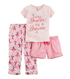 Carter's® Girls' 12M-12 3-Piece Little Dancer Pajama Set