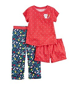 Carter's® Girls' 12M-14 3-Piece Kitten Pajama Set