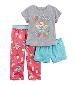 Carter's® Girls' 12M-12 3-Piece Sundae Fun Day Pajama Set