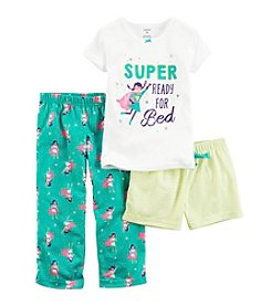 Carter's® Girls' 12M-12 3-Piece Super Ready Pajama Set