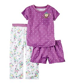 Carter's® Girls' 12M-12 3-Piece Monkey Princess Pajama Set