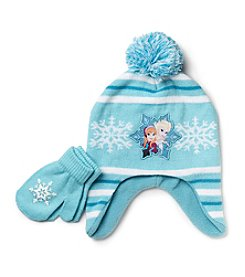 Disney® Frozen Girls' Pom Hat and Mittens Set