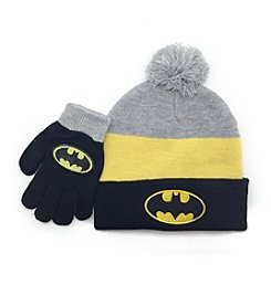 Batman® Boys' Pom Hat and Gloves Set