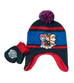 Paw Patrol Boys' Pom Hat And Mittens Set