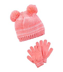 Carter's® Girls' 2T/4T Pom Hat and Gloves Set