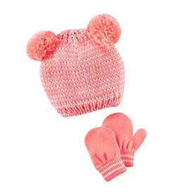 Carter's® Baby Girls' Pom Hat and Mittens Set