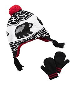 Carter's® Boys' Bear Pom Hat and Mittens Set