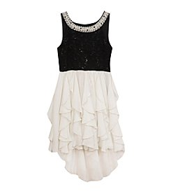 Rare Editions® Girls' 7-16 Embellished Cascade Dress