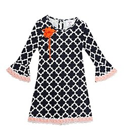 Rare Editions® Girls' 7-16 Bell Sleeve Printed Shift Dress