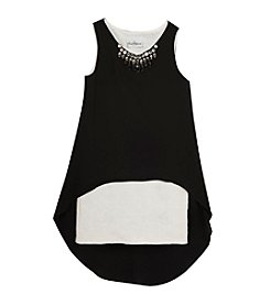 Rare Editions® Girls' 7-16 Jeweled Hi-Lo Overlay Dress