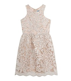 Rare Editions® Girls' 7-16 Sequin Brocade Dress