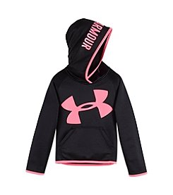 Under Armour® Girls' 4-6X Check Point Jumbo Logo Hoodie