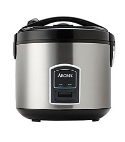 Aroma® 20-cup Stainless Steel Cool-Touch Rice Cooker and Food Steamer