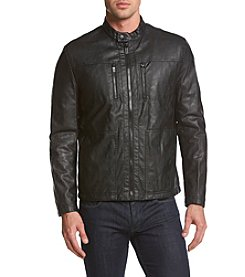 Kenneth Cole® Men's Sherpa-Lined Faux Leather Jacket