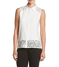 Calvin Klein Lace Collared Blouse