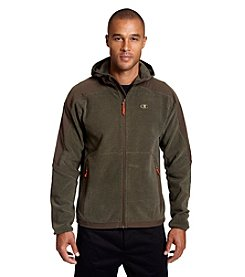 Champion® Men's Textured Hooded Zip-Up Fleece
