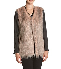 Via Spiga® Collarless Feathered Vest
