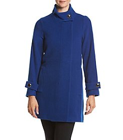 Trina Turk Residential® Stand Collar Walker Coat