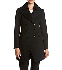 Trina Turk Residential® Double Breasted Military Walker Coat
