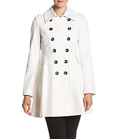 Via Spiga® Double Breasted Fit And Flare Coat