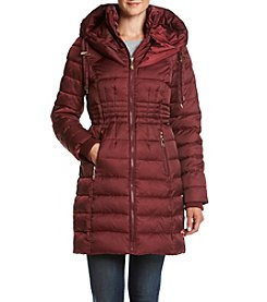 Betsey Johnson® Waist Cinch Puffer Coat