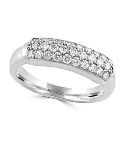 Effy® Pave Classica Collection 0.57 ct. t.w. Diamond Ring 14K White Gold
