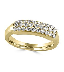 Effy® Pave Classica Collection 0.57 Ct Tw Diamond Ring 14K Yellow Gold