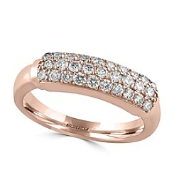 Effy® Pave Rose Collection  0.57 Ct Tw Diamond Ring 14k Rose Gold