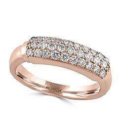 Effy® Pave Rose Collection  0.57 Ct Tw Diamond Ring 14k Rose Gold