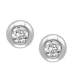 Effy® D'oro Collection 0.39 ct. t.w. Diamond Earrings In 14K White Gold
