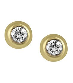 Effy® D'oro Collection 0.39 ct. t.w. Diamond Earrings in 14K Yellow Gold