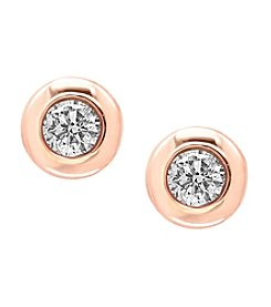Effy® D'oro Collection 0.39 ct. t.w. Diamond Earrings in 14K Rose Gold