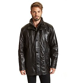 Excelled Men's Leather Car Coat