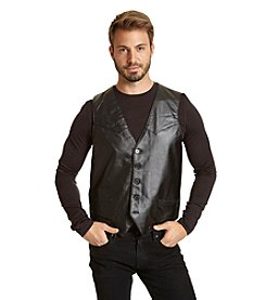 Excelled Men's Premium Soft Lambskin Leather Vest