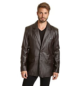 Excelled Men's Soft Lambskin Leather Blazer
