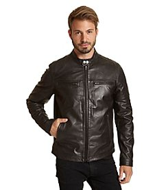 Excelled Men's Leather Racer Jacket